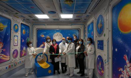 La sala d'attesa… spaziale per i piccoli pazienti dell'ospedale Papa Giovanni