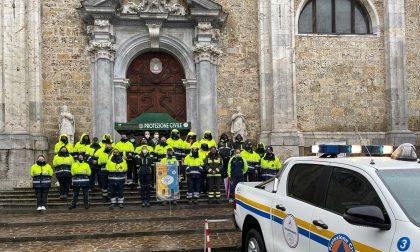 Val Gandino, benedetto dalla pioggia il nuovo mezzo operativo della Protezione Civile