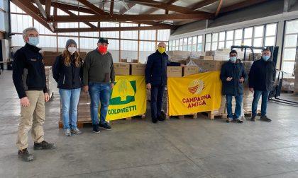 Operazione solidarietà di Coldiretti Bergamo: distribuite 25 tonnellate di prodotti