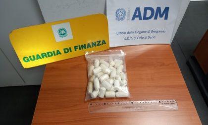 Atterra a Orio con 34 ovuli di cocaina dietro la schiena: in carcere corriere 36enne