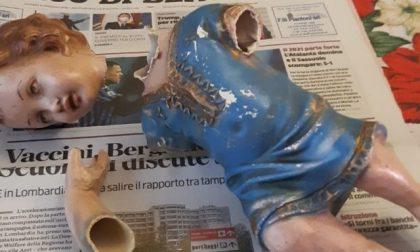 Beccati (e strigliati) i ragazzi che hanno rotto il Gesù Bambino del presepe di Gazzaniga