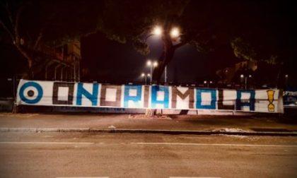 La Nord suona la carica con uno striscione allo stadio: «Onoriamo la Coppa Italia»