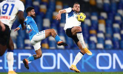 Tante occasioni limpide per l'Atalanta, ma nessun gol: a Napoli finisce 0-0