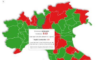 Covid in Lombardia: la situazione peggiora, ma Bergamo resta ancora sotto la soglia critica