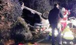 Volo di 20 metri con l'auto nel dirupo, grave un 54enne di Taleggio