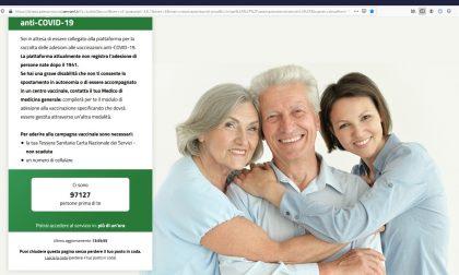 Vaccini per gli over 80, Fontana: «In 24 ore superata la soglia delle 250 mila adesioni»