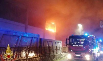 Falegnameria devastata da un incendio: vigili del fuoco al lavoro tutta la notte