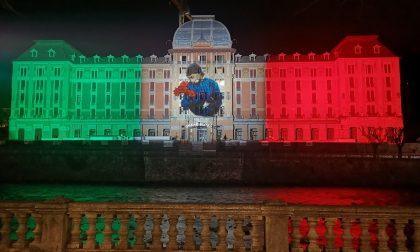 Grand Hotel di San Pellegrino, due settimane con un tricolore da 7mila metri quadri