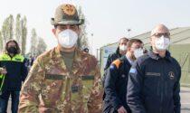 La visita, fuoriprogramma, del generale Figliuolo a Bergamo e Dalmine: «Doveroso»