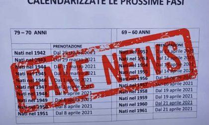 L'allarme di Regione Lombardia: «In rete finta tabella per le vaccinazioni anti-Covid»