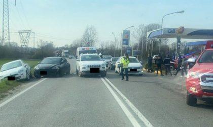 Scontro tra un furgone e tre automobili a Osio Sotto: due le persone ferite