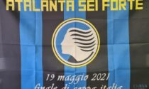 """""""Atalanta sei forte"""", la bandiera realizzata dalla Curva Nord per la finale di Coppa Italia"""