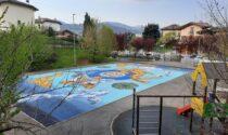 A Casnigo il campetto da basket diventa arte in memoria di Emiliano, ucciso dal Covid