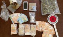 In casa oltre 26 mila euro, marijuana e cocaina: in carcere 42enne di Telgate