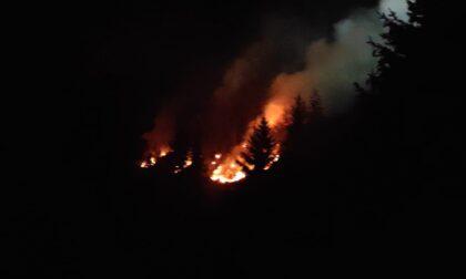 Val Gandino, sui monti l'ombra dei piromani: in serata altro incendio, in Valpiana