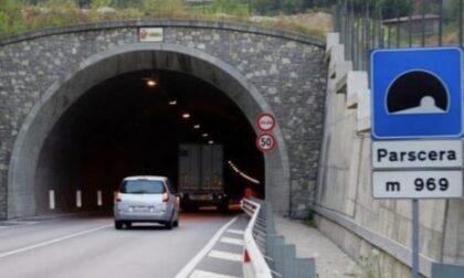Problemi di impermeabilizzazione, la galleria Parscera chiude al traffico dal 18 al 21 aprile