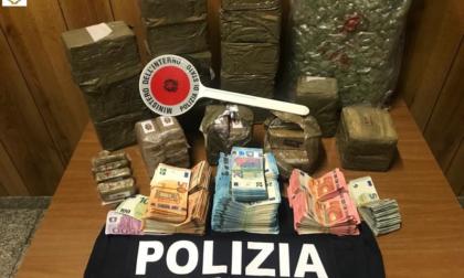 A Zingonia maxi sequestro di droga: circa 20 chili e oltre 65 mila euro. In carcere un marocchino