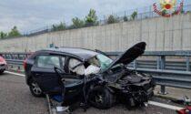 Schianto tra auto e camion sulla Brebemi, sul tratto Treviglio-Caravaggio. 40enne ferito