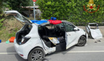 Frontale tra automobile e camion: gravi quattro persone, feriti anche due bambini