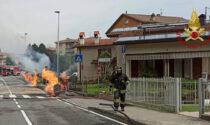 Almenno San Bartolomeo, trivella rompe i tubi del gas e innesca un incendio