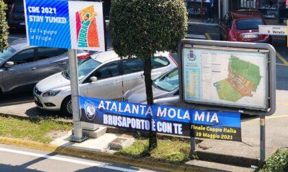 «Atalanta mola mia»: striscioni appesi in oltre 80 comuni bergamaschi per incitare la Dea