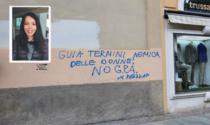 Scritte contro la deputata Guia Termini per la proposta di legge sulla «gravidanza solidale»
