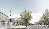 Basta automobili davanti a Palazzo Frizzoni: in arrivo Ztl, nuova pavimentazione e più verde