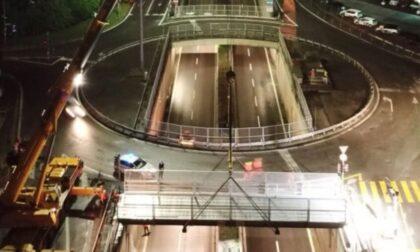 Posata a Colognola la nuova passerella ciclopedonale per attraversare la circonvallazione
