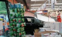San Giovanni Bianco, auto sfonda le vetrate di un supermarket