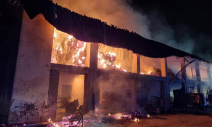 Incendio devasta un fienile a Treviglio: denunciato dai carabinieri un uomo di 38 anni