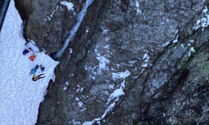 Turisti tedeschi bloccati al Passo della Scaletta: recuperati con l'elicottero