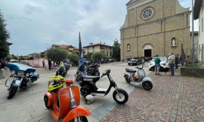 Video e foto dell'addio commosso di Mozzo a Michele Bettinelli, con le sue amate moto