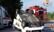 Frontale sulla Francesca: ferita una guardia giurata di 39 anni, in fuga l'altro automobilista