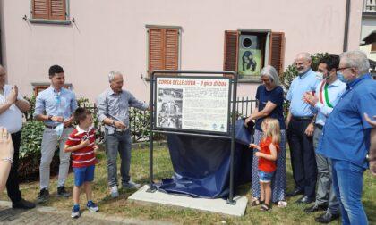 Inaugurata a Fiorano al Serio la stele ricordo della Corsa delle Uova (che torna nel 2022)