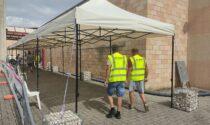 L'Accademia dello Sport ha ricomprato i gazebo dell'hub di Chiuduno distrutti dalla tempesta