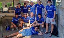 Maehle mania: dieci giovani danesi in gita a Bergamo con indosso la 3 nerazzurra