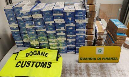 Sigarette di contrabbando: in aeroporto sequestrati circa 100 chilogrammi