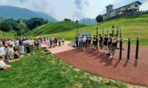 Inaugurata a Gandino la nuova area per gli sport giovani, che sarà gestita... dai giovani
