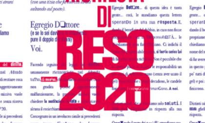 """L'iniziativa """"Reso 2020"""", con le testimonianze del lockdown"""