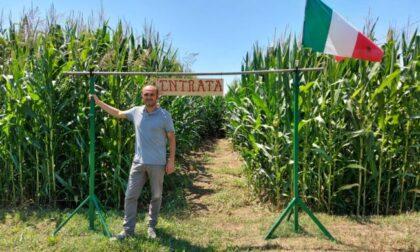 Alessandro Ciocca e l'idea di creare, nei campi di Treviglio, un labirinto in mezzo al mais