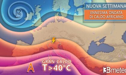 La prossima settimana torna l'alta pressione africana: sole e punte di 40 gradi