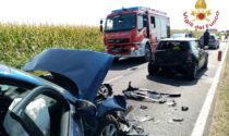 Maxi tamponamento a Martinengo: tre auto coinvolte, cinque le persone ferite