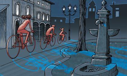 Vedere Bergamo ma con altri occhi: una pedalata teatrale sotto le stelle