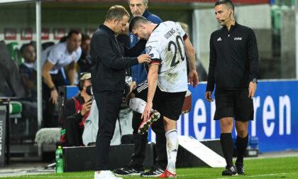 Infortunio a Gosens, la federcalcio tedesca: «Lesione alla capsula della caviglia»