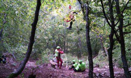 Va in cerca di funghi ma scivola nel bosco: 69enne bergamasco in gravi condizioni