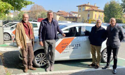 A Seriate sbarca il car-sharing elettrico Mobilze: inaugurati due stalli di sosta